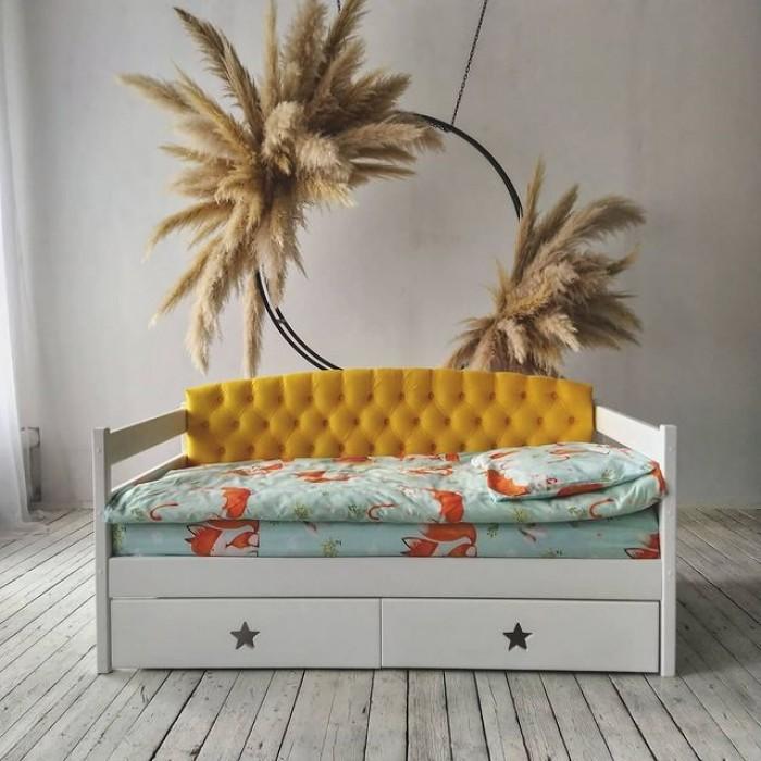 """Кровать """"Звездочка с мягкой спинкой"""" детская"""